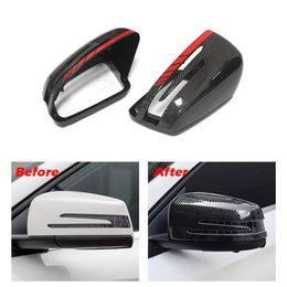 2019 capas de espelhos de carbono Fibra de carbono Tampa Do Espelho para Mercedes-Benz A B C S CLASSE GLA Classe Tampas de Retorno De Fibra De Carbono Para W204 W176 W117 W218 W212 W207 X156 capas de espelhos de carbono barato