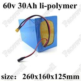 Batterie de vélo électrique 60v 30ah li-polymère 30Ah 60v 2000w 2500W avec batterie de décharge BMS 45A + chargeur 67.2V 3A ? partir de fabricateur