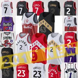 Lowry trikot online-2 Leonard Jerseys 2 Kawhi Jersey NCAA 7 LOWRY 15 Carter Basketball Jersey Camby 21 Fred Fred 23 VanVleet College 2019 Patch