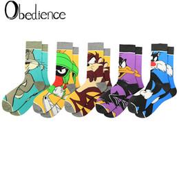 2019 calcetines amarillos de niña Cute Style Women Socks Cartoon pato pato hombres Animal Socks Kawaii unisex calcetines largos happy funny Sox nueva moda