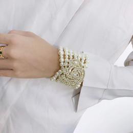 2019 pulseiras luxuosas Qualidade luxuosa mulheres charme pulseira com diamante e pérola decorar e logotipo pulseira e caixa de marca presente de casamento caixa de transporte da gota PS53 pulseiras luxuosas barato