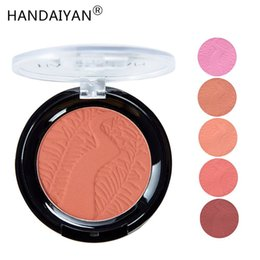 Creme vermelho on-line-HANDAIYAN Rosto Blush Rouge Makeup Cheek Blush Minerais Paletas escova Paleta Creme Natural Blush