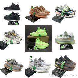 2019 V2 Kardashian V2 GLOW NEGRO REFLECTIVO VANTA LUNDMARK ANTLIA SYNTH REFLECTIVE CLAY Zapatos de diseñador X Stock con caja Calcetines Llavero desde fabricantes