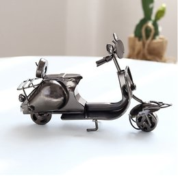 12 x 4x 7.5cm Creative Nordic Mini Iron Scooter Ornaments Retro Motorcycle Car Home Decoration Accessories Gift Collection