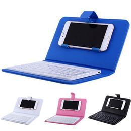 teclados para telefones celulares Desconto Caso de teclado de telefone celular unniversal Bluetooth teclado sem fio para telefone Flip case capa com suporte para iPhone e Samsung