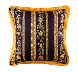 travesseiro real Desconto 50 cm Barroco LE JARDIN Medusa Designer de Almofadas Decorativas Covers Velvet Engrossar Caso Almofada Borla Luxo Criativo Royal Home Hotel Cojines