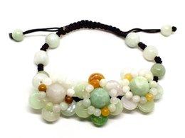 La joyería fina natural Myanmar esmeralda hecha a mano flor tejida ajusta la pulsera Envío Gratis desde fabricantes