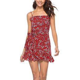 97a0c5e328 korean clothes women dress Coupons - Summer Dress Women Fashion Floral  Print Spaghetti Strap Boho Beach