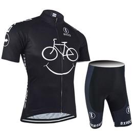 2019 BXIO Nueva Comming jerseys de ciclo de la sonrisa ropa amarilla bicicleta de montaña de manga corta de secado rápido Ciclismo Bicicletas Establece transpirables lulinxia desde fabricantes