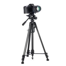 новые профессиональные видеокамеры Скидка Meking New 140см 55-дюймовый профессиональный штатив для камеры видеокамеры WF-3520 Черный штатив трип