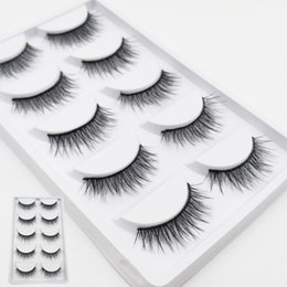 23bd8e38a1c iflovedekd Fake Eyelashes 5 Pairs Box Crisscross 3D False Lashes Handmade  Natural Long Silk Eye Lashes D02