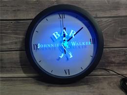 panneau marcheur Promotion 0A439 Johnnie Walker Wine Bar APP RGB LED 5050 signes Neon Light Horloge murale