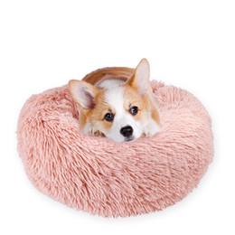 accessoires de lits de chien Promotion Lits moelleux Pads Chiens Chats Chatons Rond Lits Accessoires 3 Tailles Réchauffement Fournitures Pour Animaux Livraison Gratuite