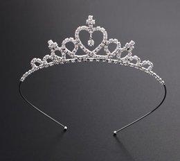2019 regalo de cumpleaños de cristal para niña Bling tiaras y coronas para las niñas litera diadema cabritos fiesta de cumpleaños de cristal Rhinestone accesorios para el cabello bonito regalo para niña F499 regalo de cumpleaños de cristal para niña baratos