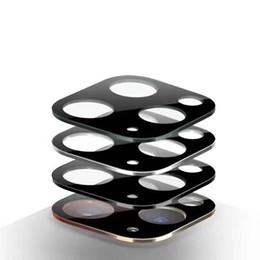 2019 verres trempés blu alliage de titane caméra arrière objectif Cover en verre trempé Film de protection pour iPhone 11/11 Pro Max