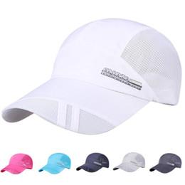 Sombreros plegables sol online-Venta al por mayor 2019 recién llegado Unisex adulto sombrero de malla de secado rápido plegable sol sombrero exterior protector solar gorra de béisbol Freeship caliente
