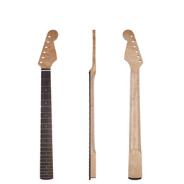 guitare à boulons Promotion 22 frettes touche palissandre canada érable de remplacement de manche de guitare électrique clair boulon en satin clair