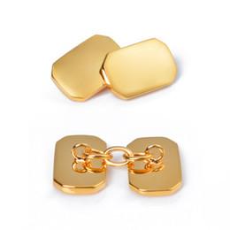 Canada Boutons de manchette chaîne nouvelle mode d'affaires métal octogonal élégant miroir tricolore femmes et boutons de manchette accessoires de haute qualité pour hommes Offre