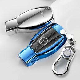 2019 auto fernschlüssel gehäuse Patent-TPU-Auto-Selbstschlüsselkasten-Abdeckungs-Oberteil für das Mercedes-Benz A / B / C / E / ML / GL / S / GLA / GLK Autozubehör-Styling