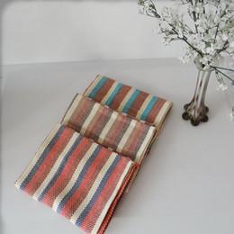 Polveri di cotone online-42 * 66CM Cotton Stripe Napkin 3 Colori Assorbente Asciugamano lavabile Duster Panno Dinner Placemat Cucina Tessile 3 Pezzi ePacket
