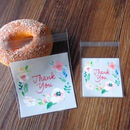 Спасибо полиэтиленовый пакет для подарков свадьба прозрачный OPP самоклеящиеся печенье конфеты сумки цветок печенье выпечки подарочные пакеты cheap biscuit plastic gift bag от Поставщики подарочный пакет из печенья