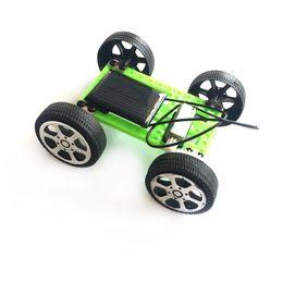 carro de metal diy Desconto Solar Car infantil Artesanato Novo criativo Brinquedos Kindergarten DIY Brinquedos elétricos