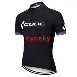Bicicletta bicchierini cubo online-CUBE 2019 Pro Maglia da ciclismo estiva traspirante Mountain Bike Abbigliamento sportivo Manica corta Abbigliamento da bici Abbigliamento da ciclismo per uomo