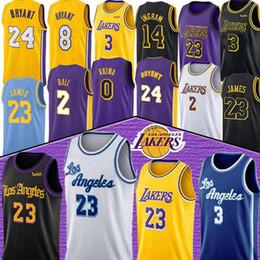 Camisetas de kobe online-LeBron James 23 NCAA Anthony Davis 3 jerseys Kobe Bryant 8 24 0 Kyle Kuzma Lonzo 2 Bola Brandon Ingram 14 hombres niño