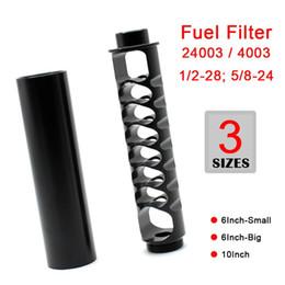 atv unidad trasera Rebajas Solvente de aluminio Trap 1 / 2-28 5 / 8-24 Filtro de combustible para NAPA 4003 WIX 24003 Negro Gris filtros de aceite