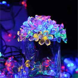 Flor Solar Luz De La Secuencia De 7 M 50 Cerezo Luz Led De Cadena Impermeable Al Aire Libre Luz De Hadas Solar Para Interior Y Exterior Terraza Del