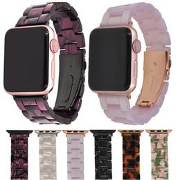 Имитация ремней онлайн-Имитация Керамический ремешок для Apple Watch 3/2/1 42 мм / 38 мм Iwatch Браслет наручные ремни из смолы Аксессуары для часов ремешок для часов J190702