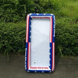Banderas frescas online-Mar de hielo partido inflable bandeja del refrigerador de la bandera americana hiela el cubo inflable cerveza Tabla flotador de alimentos bebidas barra de ensaladas bandeja ZZA221-1