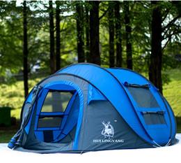 tenda da campeggio auto Sconti All'ingrosso-Hui Lingyang Tenda da esterno Tende automatiche da esterno Tiro Pop up Tenda da campeggio impermeabile Tende da campeggio impermeabili per famiglie numerose