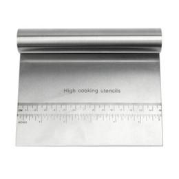Bancos de aço inoxidável on-line-Raspador de massa cortador de massa com punho raspador de banco de aço inoxidável