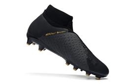 sportelli sportivi Sconti Mens di alta qualità Phantom VSN Shadow Elite DF AG scarpe da calcio all'aperto nero Lux EA sport calcio tacchetti di alta caviglia scarpe da calcio 39-45 v02