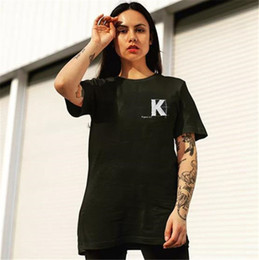 2019 casais camisetas Luxo KITH Impresso Tshirts Homens Manga Curta O Pescoço Casais Tops Moda Solto Masculino Tees casais camisetas barato