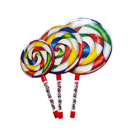 Орфф детский ударный инструмент детская головоломка Lollipop Drum Baby Music Ручной барабан Игрушка Обучающие Семейные музыкальные игрушки от Поставщики железная отделка