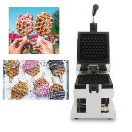 2019 sahne-tische Kommerzielle Honeycomb Waffel-Hersteller 110V 220V Rotating Waffle Pop Waffeleisen Baker Eisenplatten Pan zu machen