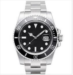 2019 assista a grande discagem quadrada Relógio de homens de luxo vidro de safira 116610 moldura de cerâmica 40mm 2813 movimento relógio mecânico automático de aço Inoxidável À Prova D 'Água Luminosa