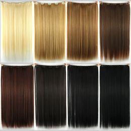 großhandel synthetischen haar brötchen zubehör Rabatt Chemische Faser Glattes Haar Clip Heiße Haarverlängerung Hochtemperatur Seide Clip Gold Schwarz Gelb Braun jooyoo