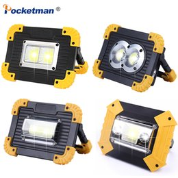 Аккумуляторная лампа онлайн-Waterproof 30000LM LED Work Light 100W LED Portable Spotlight Rechargeable Lamp for Hunting Camping Latern with 18650 Battery