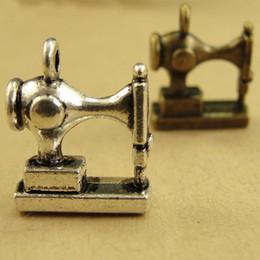 Серебряные швейные чары онлайн-15*12 * 6 мм античная бронза старинные Швейные машины очарование кулон Корея новый, DIY ювелирные изделия ручной работы и аксессуары, серебряные подвески много