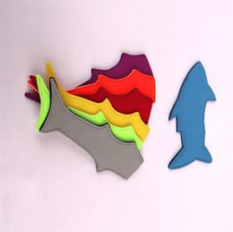 Deutschland Neopren Shark Cartoon Popsicle Halter Multicolor Ice Bag Abdeckung 22 cm x 6,5 cm Sommer Popsicle Tasche Küche Werkzeuge Eis am Stiel Tasche für Kinder A4904 Versorgung