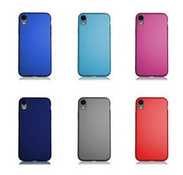 textura iphone tpu Desconto Matte textura tpu phone case para iphone xs max xs xr tpu tampa do telefone celular protetor de telefone tampa do iphone