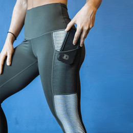 Sportswear de alta qualidade on-line-Atacado Novas Mulheres de Fitness Esportes Leggings Ginásio Roupas Conjunto de Treino de Senhoras de Alta Qualidade Sexy Shaping Hip Quick Dry Sportswear Calças de Yoga