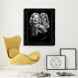 2020 marilyn monroe retrato pintura Marilyn Monroe Retrato Pintura de la Lona Imprimir Dormitorio Decoración Del Hogar Arte de La Pared Moderna Pintura Al Óleo Cartel Ilustraciones rebajas marilyn monroe retrato pintura
