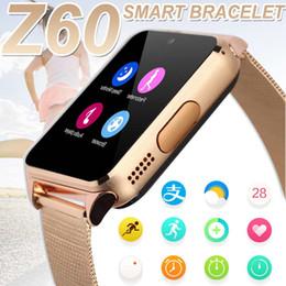 Bluetooth Smart Uhren Z60 430mA Smartwatch Metall Handschlaufe Unterstützung 2G SIM TF Karte Android IOS Clock Nachricht Push Phone Watch von Fabrikanten