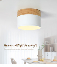 2019 moderne lampe holz LED-Deckenstrahler für Deckenleuchten Beleuchtungskörper LED 5W Wood Downlight-Strahler modernes Holz-Wohnlicht günstig moderne lampe holz