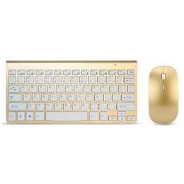 Metal Kaplama Kablosuz Klavye Fare Seti Combo USB Alıcı Ince Çok Renkli Klavye Mouse Seti Ultra Ince PC için / Dizüstü / TV KUTUSU nereden