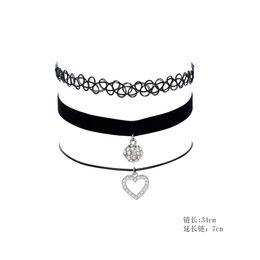 diamante colar de pingente de forma coração Desconto Gótico europeu E Americano Simples Em Forma De Coração Diamante Pingente Colar De Cristal Colar De Pingente De Colar Brilhante Em Forma De Coração Brilhante Decoração
